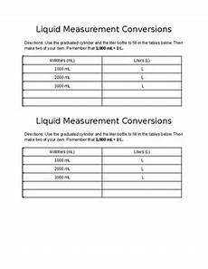liquid measurement worksheets grade 3 1675 liquid measurement conversion worksheet ml to l by sorting it out in 2nd
