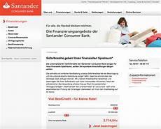 santander sofortkredit 2019 187 finanzierung darlehen im test