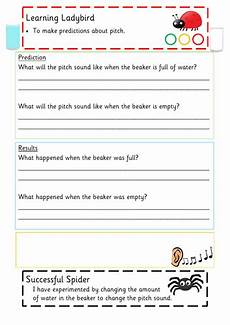 science worksheets ks1 12264 early years light and sound resources