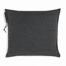 schlafzimmer joly joly kissen 50x50 anthrazit modernes strickkissen knit