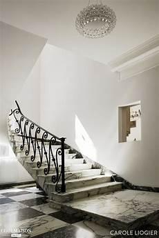 Escalier En Marbre Noir Et Blanc 224 Jean Cap Ferrat