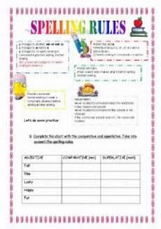 spelling rules worksheet by claudiafer