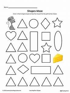 shape maze worksheet 1194 triangle shape maze printable worksheet color printable worksheets maze and worksheets