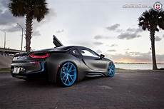 bmw i8 tuning felgen hre und folierung in frozen black