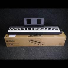 yamaha p 45b compact digital piano black w box ex