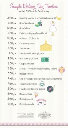 Wedding Day Timeline 5 Exle Schedules To Help Plan The Order Of Your Wedding Day