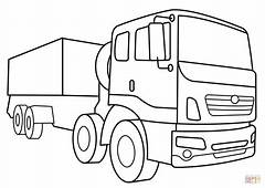 Military Supply Vehicle Coloring Page  Free Printable