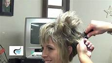 how to style a stacked hairstyle with straight bangs youtube