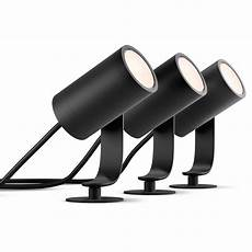 spot led ambiance philips hue white and color ambiance black outdoor