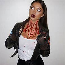 déguisement halloween original femme viree makeup