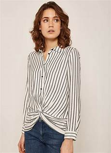 Stripe Twist ivory twist front stripe shirt
