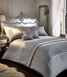 super kingsize duvet sets grey or white silver sparkle