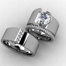 hand crafted custom bridal wedding band set by paul michael design custommade com