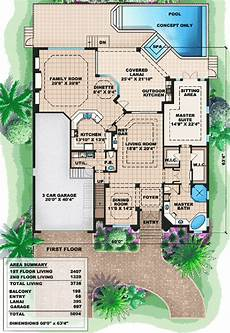 two story mediterranean house plan 66237we