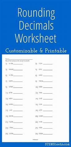 free printable worksheets on rounding decimals 8126 customizable and printable rounding decimals worksheet math stem resources math