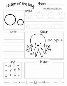 pre k letter o worksheets 24402 letter of the day printable worksheets subscriber freebie preschool worksheets preschool