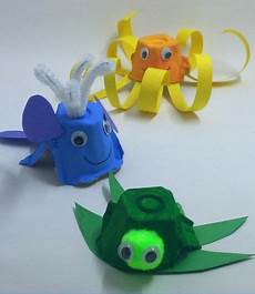 Tiere Basteln Aus Papier - basteln eierschachteln meerestiere schildkr 246 te wal oktopus