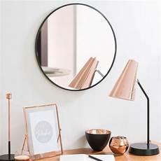 miroir rond metal miroir rond en m 233 tal noir d 40 cm grazzia maisons du monde