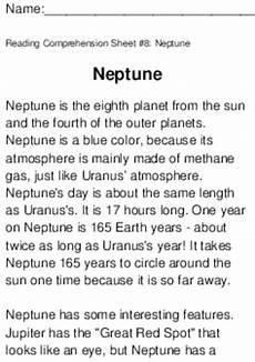 neptune planet worksheet neptune worksheet for 3rd 4th grade lesson planet