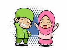 Kartun Anak Muslim Vector Cdr Ai Guru Corel