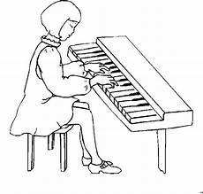 maedchen spielt klavier ausmalbild malvorlage kinder
