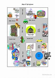 mapping worksheets for esl 11504 map of springtown worksheet free esl printable worksheets made by teachers