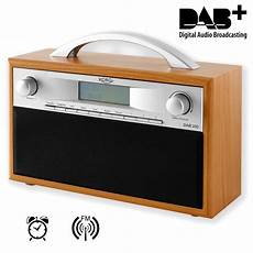 dab radio empfang dab radio tragbares dab fm radio holzdesign weckfunktion
