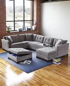 Elliot Fabric Sectional Living Room Furniture Collection elliot fabric microfiber 3 chaise sectional sofa