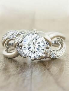 nature wedding ring mazie wide band split shank round diamond ring ken dana
