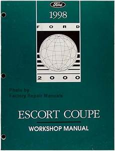 motor auto repair manual 1998 ford escort electronic throttle control 1998 ford escort zx2 coupe factory service manual original shop repair factory repair manuals
