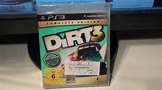 Unboxing Dirt 3 Complete Edition Ps3 German