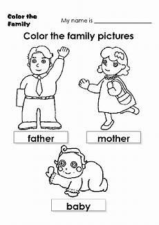 family coloring worksheets for kindergarten 12915 family colour