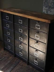 ancien grand meuble 15 casiers industriel strafor