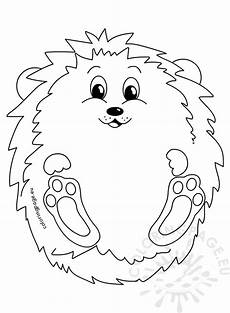 hedgehog autumn illustration coloring page