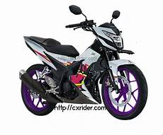 Modifikasi Motor Sonic 150r by Konsep Modifikasi Honda Sonic 150r Racing Look White