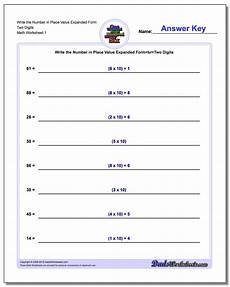 place value worksheets expanded form 5087 standard expanded and word form
