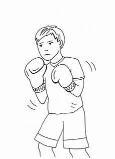 ausmalbild sport junge im box verein kostenlos ausdrucken