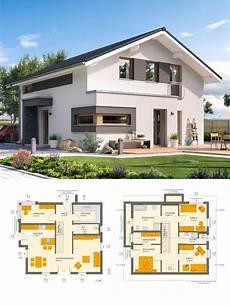 haus bauen ideen modernes satteldach haus mit galerie einfamilienhaus bauen grundriss ideen fertighaus