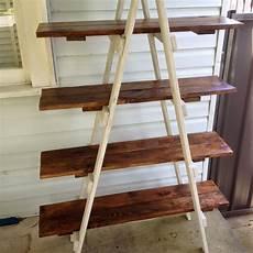 Arrange Things On A Diy Ladder Shelf