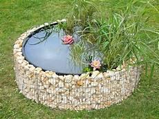 bassin de jardin en acier rond gabion 146 x 146 x 40 cm
