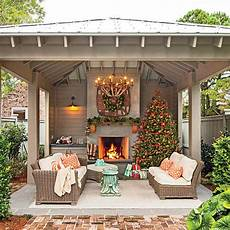 glowing outdoor fireplace ideas southern living