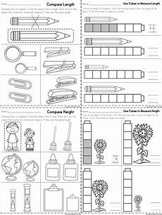 grade 1 measurement worksheets free 1990 worksheets for measuring length and height part of a kindergarten math matem 225 ticas para
