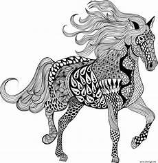 pferde ausmalbilder erwachsene coloriage adulte mandala dessin
