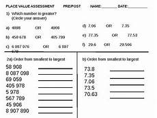 place value and value worksheets for grade 6 5317 place value assessment grade 5 and 6 test by fossilmentality tpt