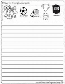 sports handwriting worksheets 15804 sports writing write your own story using our writing prompts we give you five words on