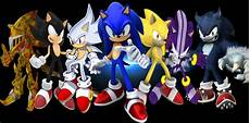 the many forms of sonic the hedgehog by shinobiassassin19 on deviantart