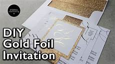 d i y gold foil belly band wedding invitations how to make your own wedding invitation youtube