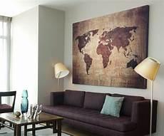 Ikea Bilder Leinwand - bild 145x95x5 loft design leinwand weltkarte braun