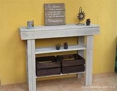 fabriquer une console en bois fabriquer une console dentree