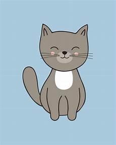 Gambar Kucing Kartun Berwarna Yang Imut Dan Lucu